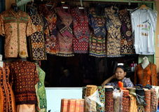 Songket, Palembang, Sumatera, Indonesia Royalty Free Stock Photos
