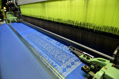 Songket Weaving Machine. & x27;Songket& x27; Weaving Automatic Machine Techology Stock Photos