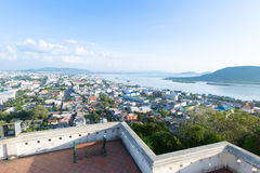 Songkha市,泰国看法  库存图片