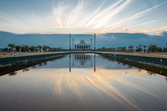 Songkhla Central mosque, Thailand. Central mosque with reflection at dusk, Songkhla, Thailand Royalty Free Stock Images
