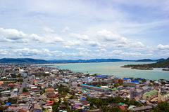 Songkhla city and lake. And sky stock photo