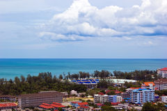 Songkhla city and sea Royalty Free Stock Photo