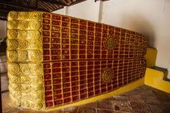 Songkhla de descanso Tailandia del templo de Wat Pho de los pies de Buda Imágenes de archivo libres de regalías