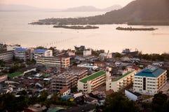 Songkhla en puesta del sol Fotos de archivo