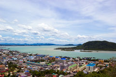 The Songkhla lake. View from Tang Kuan hill Stock Photos