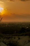 Songkhla. Look on the mountain. Sunset in the city view from the mountain Stock Images