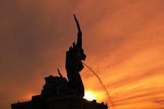 Songkhla Naga το δημοφιλές ηλιοβασίλεμα άποψης τουριστών Στοκ φωτογραφίες με δικαίωμα ελεύθερης χρήσης