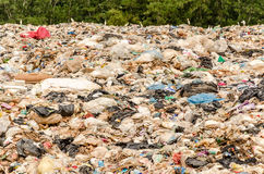 SONGKHLA, THAILAND - AUGUST 4: Municipal waste disposal. By open dump procese. Dump site at Hatyai Songkhla on AUGUST 4, 2015 in SONGKHLA PROVINCE THAILAND stock photos
