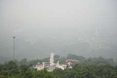 SONGKHLA, THAILAND : OCTOBER 22 : Haze fills the downtown area, Royalty Free Stock Photo