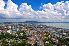 Songkhla Town. View point at tang kouan hill Royalty Free Stock Photography