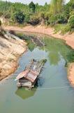 Songkram river. Big Fishing boat in songkram's river, Nongkhai provine thaland royalty free stock photos