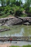 Songkram river. Big Fishing material in songkram's river, Nongkhai provine thaland stock photo