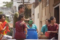 Songkran在乌隆他尼 库存图片