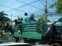 Songkran泼水节庆祝4月12日- 16日 免版税库存照片