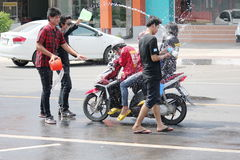 Songkran节日在泰国 库存图片