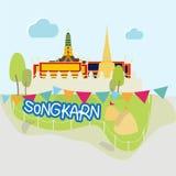 Songkran节日在泰国 免版税库存照片