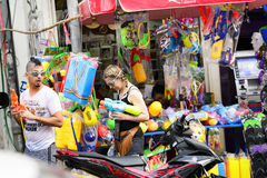 Songkran节日清迈泰国 库存图片