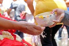 Songkran节日,泰国 库存图片