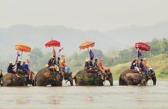 Songkran节日, Sukuthai泰国 免版税库存图片