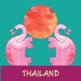 Songkran, ταϊλανδικό νέο έτος, φεστιβάλ νερού Διανυσματική απεικόνιση