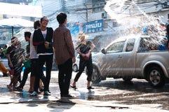 songkran празднества стоковые фото