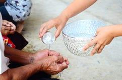 Songkran仪式,泰国节日Songkran 免版税库存图片