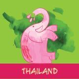 Songkran, Año Nuevo tailandés, festival del agua stock de ilustración