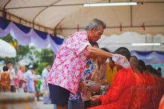 Songkran ceremonia Obrazy Stock