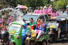 Songkran in Chiang Mai Royalty Free Stock Photography