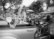 Songkran in Chiang Mai, Thailand. On the 13th of April 2014 Royalty Free Stock Image