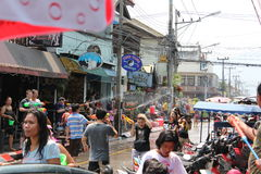 Songkran dans Chiang Mai Images libres de droits
