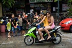 Songkran das thailändische neues Jahr ` s Festival Stockfoto