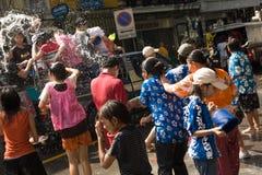 Songkran das thailändische neues Jahr ` s Festival Stockbilder
