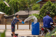 Songkran day. Of thai new year Royalty Free Stock Photography
