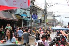 Songkran em Chiang Mai Imagens de Stock Royalty Free