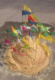 Songkran Fastival. Sand pagodo for pray on songkran fastival royalty free stock images