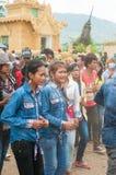 Songkran Feier in Kambodscha 2012 Lizenzfreie Stockfotos