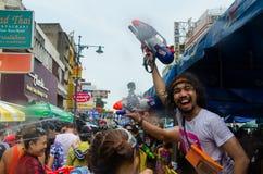 Songkran feliz Foto de Stock Royalty Free