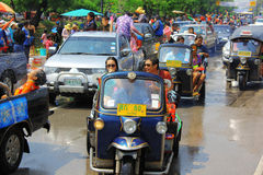 Songkran festival. Celebrated day parade Stock Photo