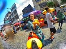 Songkran festival 2015 Arkivfoton