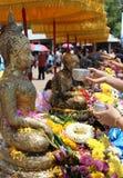 Songkran festival Fotografering för Bildbyråer
