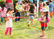 Songkran festival Arkivbilder