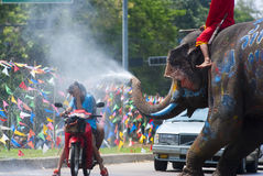 Songkran Festival in Ayudhya - Thai festival Royalty Free Stock Photography