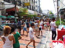 Songkran festival, Bangkok, Thailand. Royalty Free Stock Image