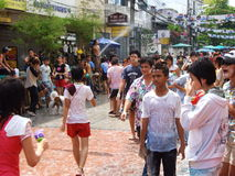 Songkran festival, Bangkok, Thailand. Royalty Free Stock Photo