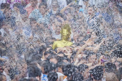 Songkran festival. Buddha statue water ceremony in songkran festival 2017,THAILAND APRIL 13 , 2017, Many people have raised the buddha statues Luang Phor Phra Royalty Free Stock Photo