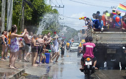 Songkran Festival is celebrated in Thailand Royalty Free Stock Photography