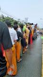 Songkran festival cerebration. Water festival begin 13 April in Thailand Royalty Free Stock Photos
