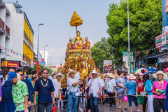 Songkran festival. CHIANG MAI, THAILAND-APRIL 13:Chiang mai Songkran festival.The tradition of bathing the Buddha Phra Singh marched on an annual basis. With Royalty Free Stock Photos