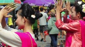 Songkran-Festival, Chiangmai Thailand stock footage